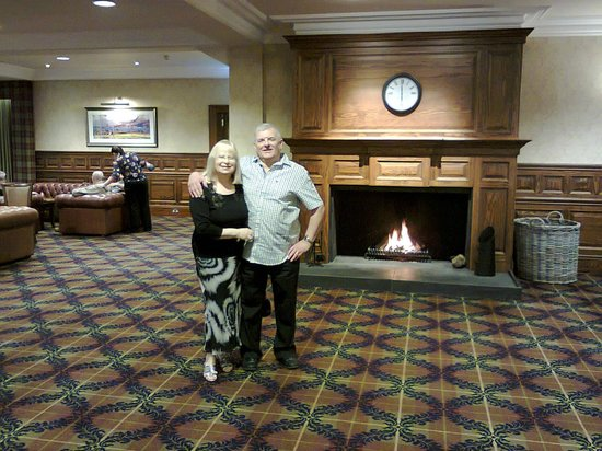 Ardgartan Hotel: The lounge fireplace