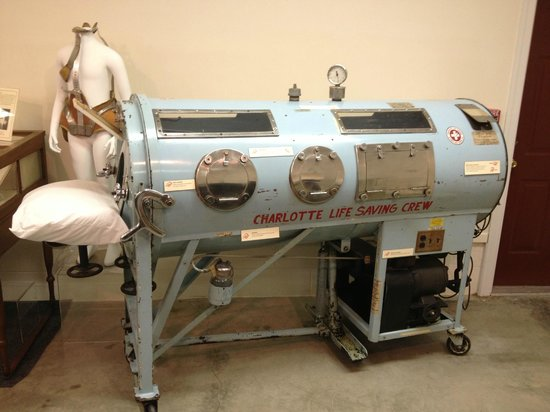 Country Doctor Museum: Iron lung (used for polio victims)