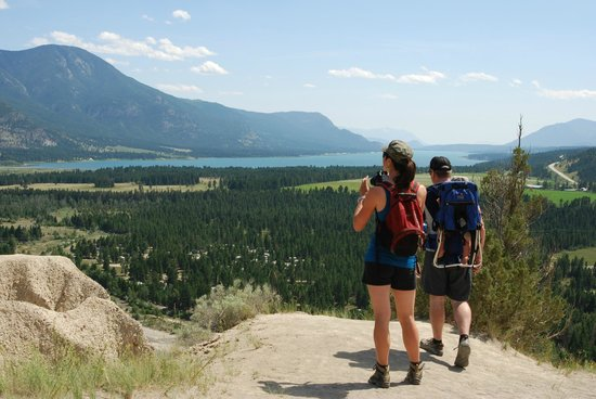 BC Rockies Adventures: View of Columbia Lake from the top of the Hoodoos
