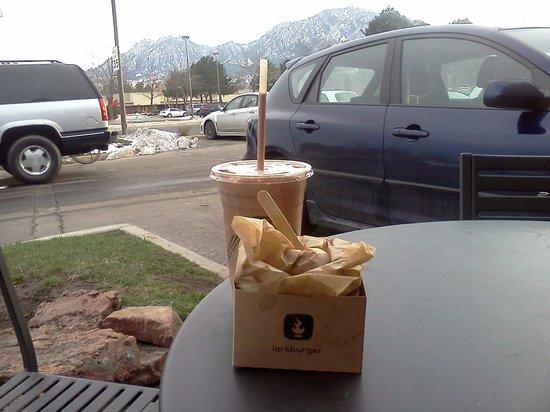 Larkburger: Scenic, outdoor seating!
