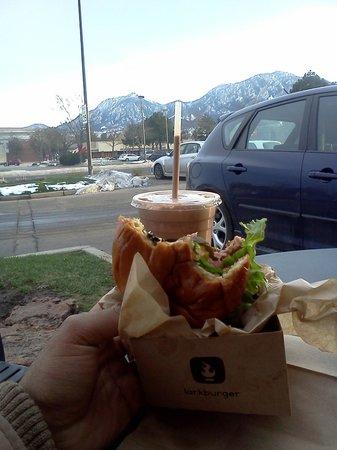 Larkburger: Lark Burger with Chocolate $5 Shake! And gorgeous Boulder Mountains