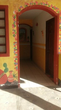 Hacienda Los Algodones: Four rooms down each of three halls, mine was the rear, left.  Left my door standing open mostly