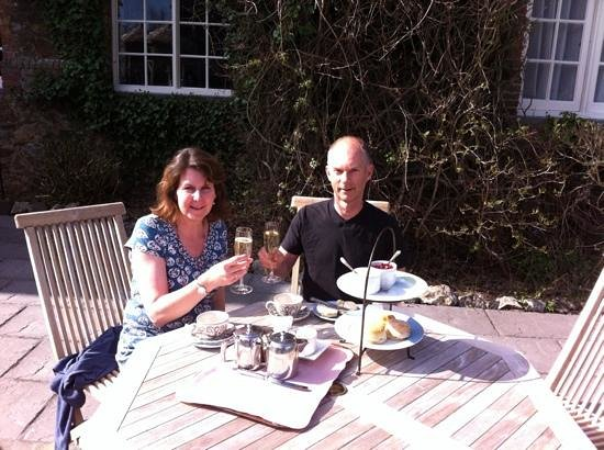 The Edgemoor Country House Hotel: Devon Cream Tea and bubbly.