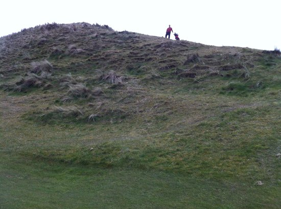 Ballybunion Golf Club: Alan on a dune to the right of #18 fairway, Old Course