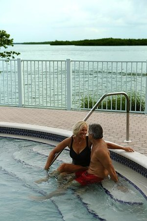 Lovers Key Resort: The pool and hot tub are favorite spots for relaxation.