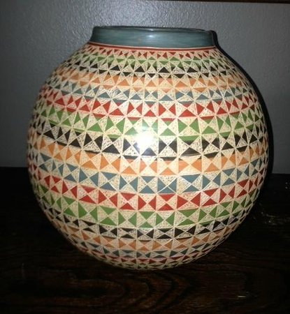 Masaya Crafts Market: a ceramic piece purchased in Masaya