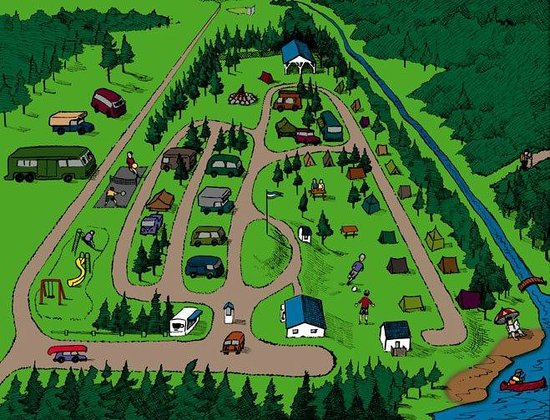 Shubie Campground: Campground Map