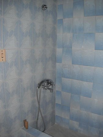 Cabanas Trip Town: shower in my bathroom...the nozzle also attached higher up for a full shower