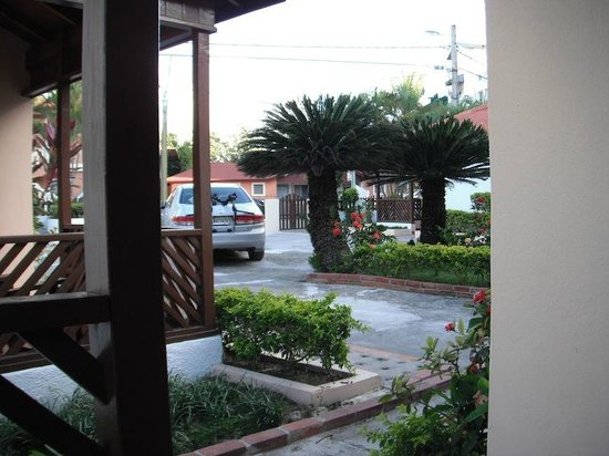 Cabanas Trip Town: another view from my room's outside seating area