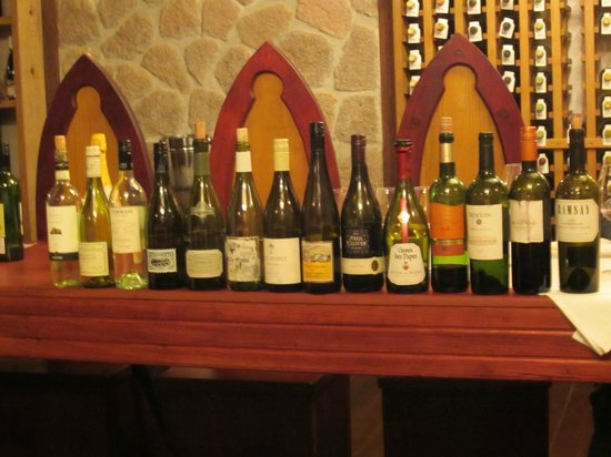 Ti Kaye Resort & Spa : Part of the wine tasting selection.
