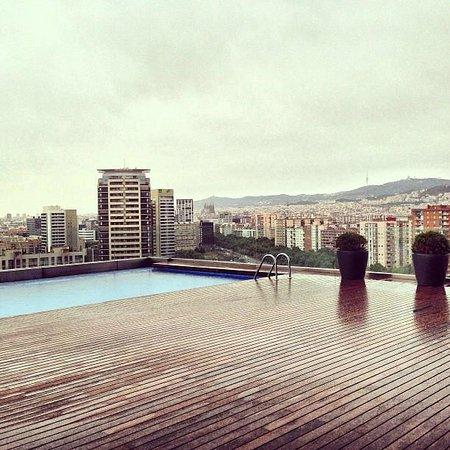 ايه سي هوتل برشلونة فورام باي ماريوت: Dalla terrazza