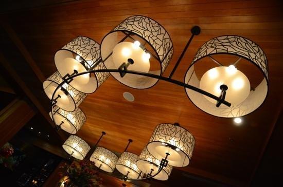 Nita Lake Lodge: creative ceiling light