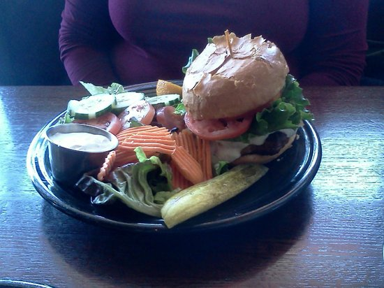 Hungry Toad : Santa Fe Burger with Salad