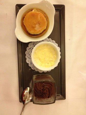 Le Petit Sommelier : Trois petits desserts de notre enfance : crême caramel, mousse au chocolat, riz au lait