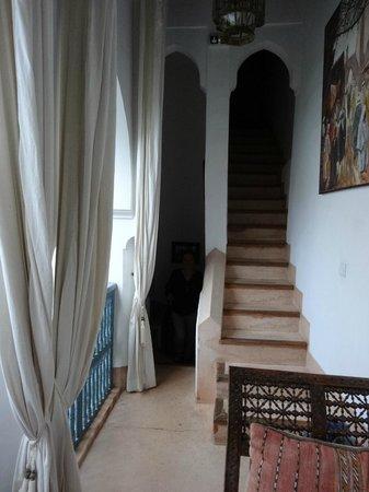 Riad des Artistes: l'accès à la terrasse