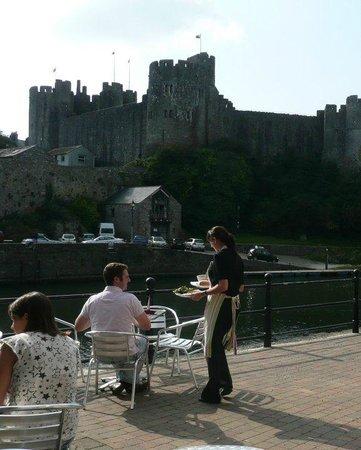 The Cornstore: View of Pembroke castle