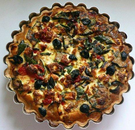 The Cornstore: Roasted vegetable & feta tart