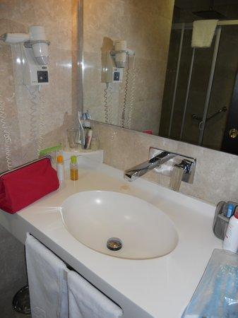 Riva Hotel: il bagno pulito e dotato di accessori