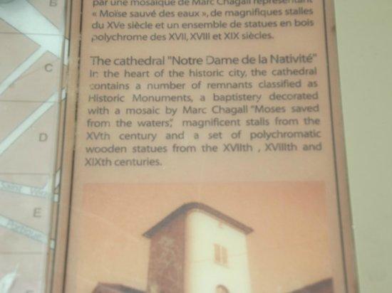 La Cathedrale Notre-Dame de la Nativite de Vence : Details about Le Cathedrale Notre-Dame de la Nativite Vence