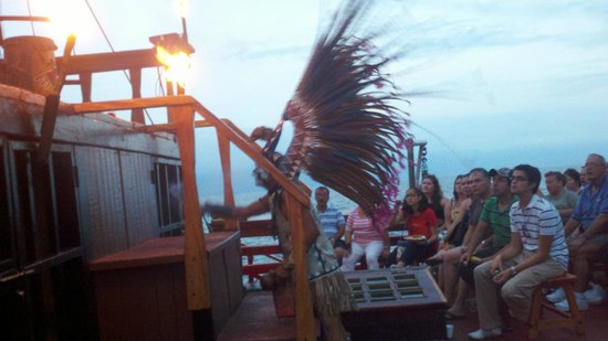 Puerto Vallarta Pirate Tours: side show on the ship