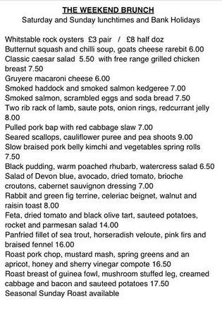 East Coast Dining Room: Saturday & Sunday Brunch Menu