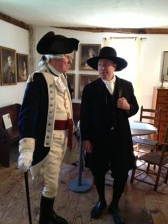 Gilbert Stuart Museum: George Washington & Gilbert Stuart on Opening Day 2013