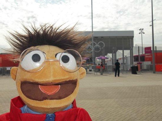 London Stadium: A Muppet athelete outside the stadium ;)