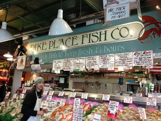 Fresh flowers picture of pike place market seattle for Seattle fly fishing shops