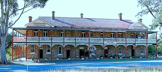 The Shirley Hotel Bed & Breakfast: The front of the hotel after the restoration.