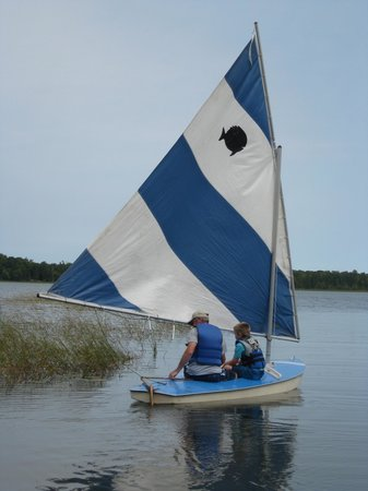 Backus, MN: Sailing on Lind Lake