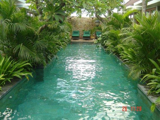 أوما كاران: Uma Karan swimming pool.