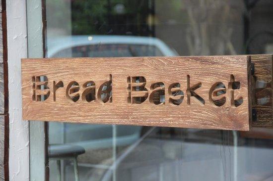 the Bread Basket: Our Shop Door handle