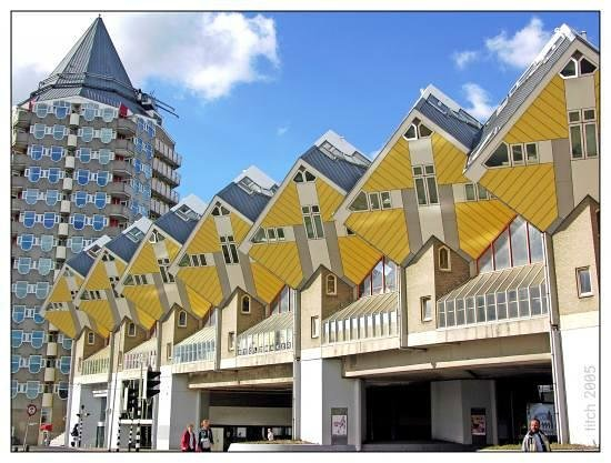 Rotterdam, Holland: Cubic houses