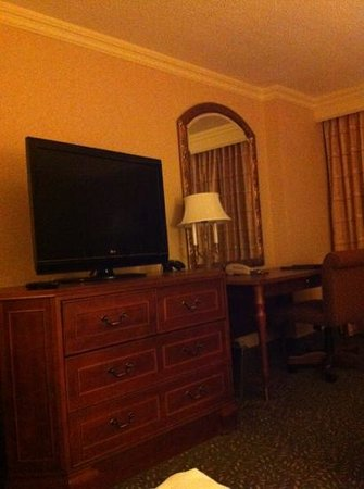 Hilton New Orleans Airport: tv/desk area