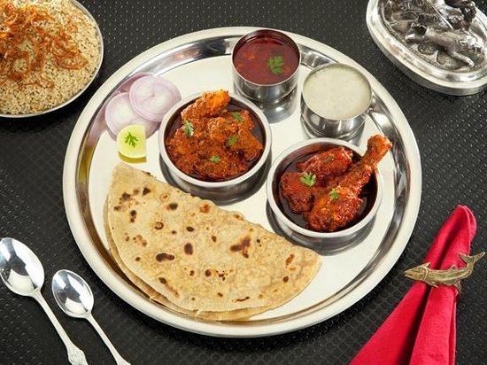 chicken mutton thali picture of padma guest house