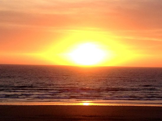 Sunset from Watergate Bay Hotel. 3 May 13
