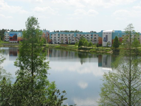 Disney's Pop Century Resort: View from outside our room