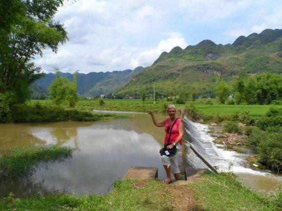 Mai Chau Day Trek: river scene near our bungalow
