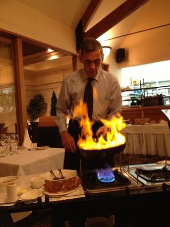 The Orangery: flambé