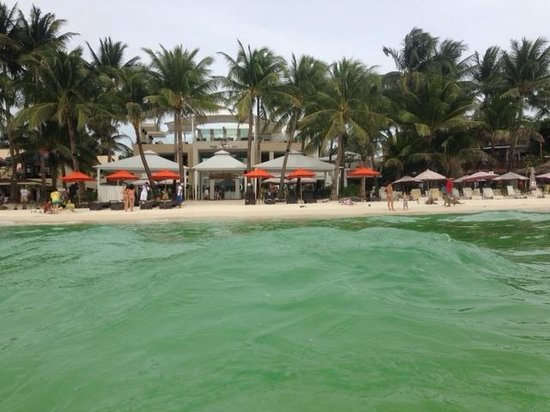 The District Boracay: Photo of hotel from in beach