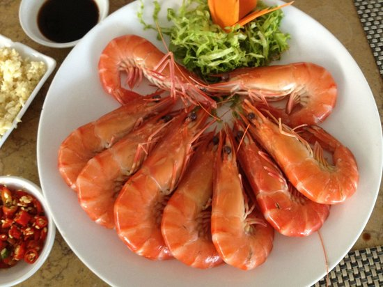 Syrena Restaurant : Boiled Prawns