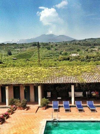 Etna Hotel: view of etna