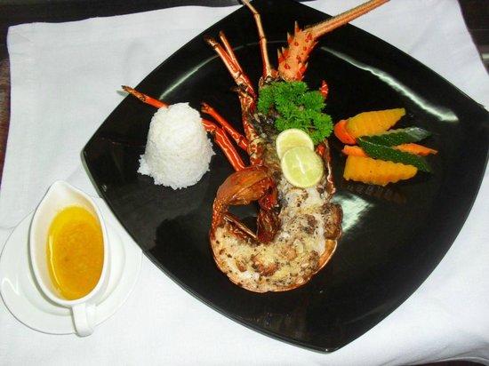 Fine Dining by Saman Villas: Special Lobster Dish