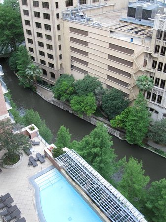The Westin Riverwalk, San Antonio: View from 12th floor corner suite