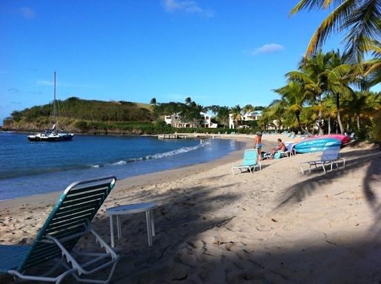 The Buccaneer St Croix: Udsigt fra stranden ved buccaneers