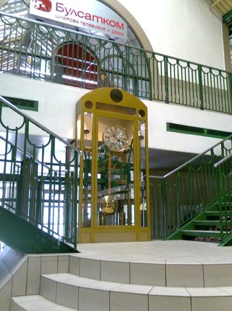 Central Market Hall (Tsentralni Hali): The stairs, and clock, central market