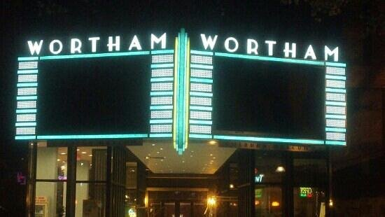 Diana Wortham Theatre: Marquee over entrance on Biltmore Avenue.