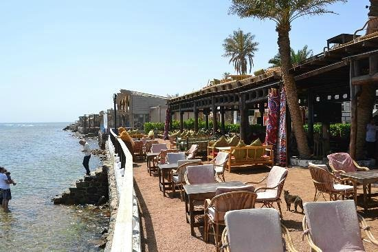 Penguin Restaurant, one of the terraces near the Red Sea