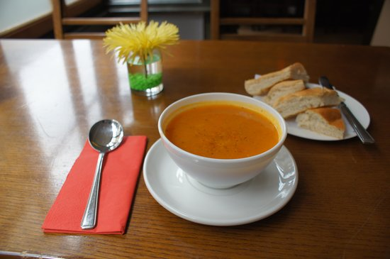 Caffe Alma: soup of the day, perfect.
