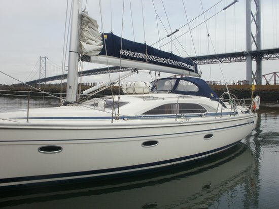 Edinburgh Boat Charters: This is the yacht you sail on.